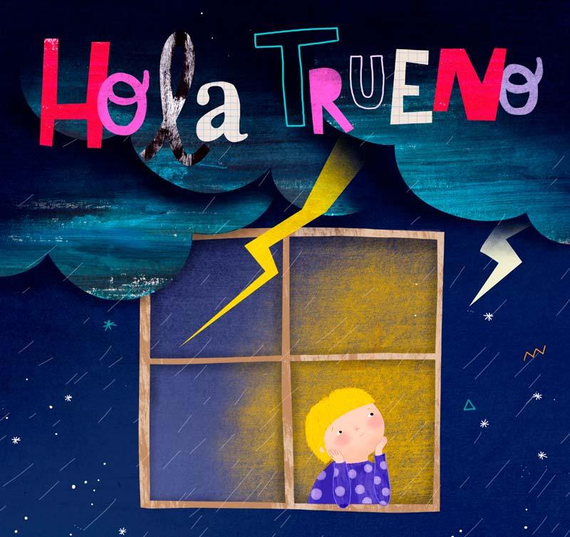 la portada de hola trueno, el cuent personalizado de upalabooks